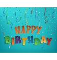 Happy birthday background template vector image vector image
