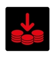 Income Icon from Commerce Buttons OverColor Set vector image