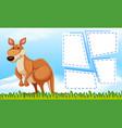 kangaroo on nature template vector image vector image