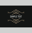 line art decoration geometric frames logo vector image