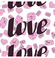 love seamless valentines day line pattern vector image vector image