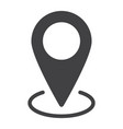 map pointer glyph icon web and mobile vector image vector image