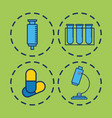 Medical related icons vector image