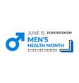 mens health awareness month vector image