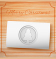 merry christmas invitation template vector image