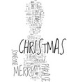 merry christmas text background word cloud concept vector image vector image
