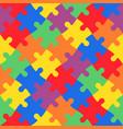 multicolored jigsaw puzzle in diagonal arrangement vector image