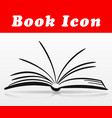 open book icon design vector image vector image
