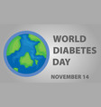 poster design for world diabetes day vector image vector image