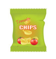 potato chips bag vector image vector image