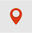 red location pin map pointer icon vector image vector image