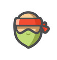 robber men masked criminal icon cartoon vector image vector image