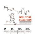 running marathon poster design vector image