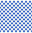 Seamless pattern with blue polka dots vector image vector image