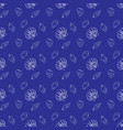 seashell marine pattern in navy blue and white vector image vector image