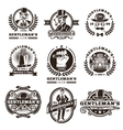 Set of vintage gentleman emblems labels