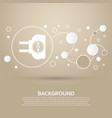 socket icon on a brown background with elegant vector image