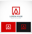 square letter a icon logo vector image vector image