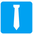 tie rounded square icon vector image