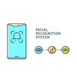 visual infographics how work facial recognition vector image