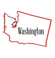washington outline vector image