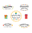 Welcome baby boy Baby shower design Baby boy vector image vector image