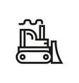 bulldozer icon on white background vector image