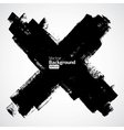 Grunge cross on the white background vector image