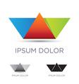Colorful paper boat emblem vector image