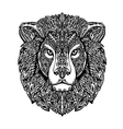 Ethnic ornamented lion Hand drawn vector image