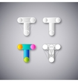 Abstract Combination of Letter T vector image