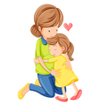 A love of a mother and a daughter vector image