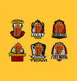 a set colorful badge emblems logos stickers vector image vector image