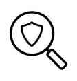 antivirus program search linear icon vector image vector image