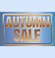 autumn sale typography isolated on blue rubber vector image vector image