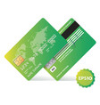 banking business plastic card and payment vector image vector image