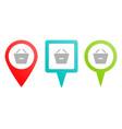 basket remove shopping multicolor pin vector image vector image