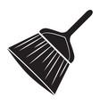 black cleaning brush logo vector image