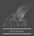 blockchain poster text with human thinking vector image