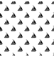 Boat with sails pattern simple style vector image vector image
