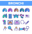 bronchitis allergic asthma symptoms linear vector image vector image