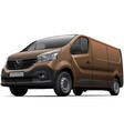 Brown light commercial vehicle