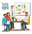 business characters team work planning vector image