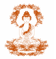 Chinese Traditional Artistic Buddhism Pa vector image vector image