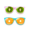 colorful two sunglasses isolated white background vector image vector image