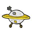 comic cartoon flying saucer vector image