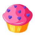cupcake with hearts vector image vector image