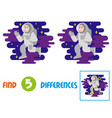 cute astronaut find 10 differences vector image vector image