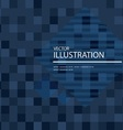 dark blue mosaic background vector image vector image