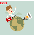 Doctor carry suitecase for emergency service - vector image vector image